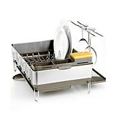 This dish rack is awesome!  simplehuman Dish Rack, Steel Frame with Wine Glass Holder