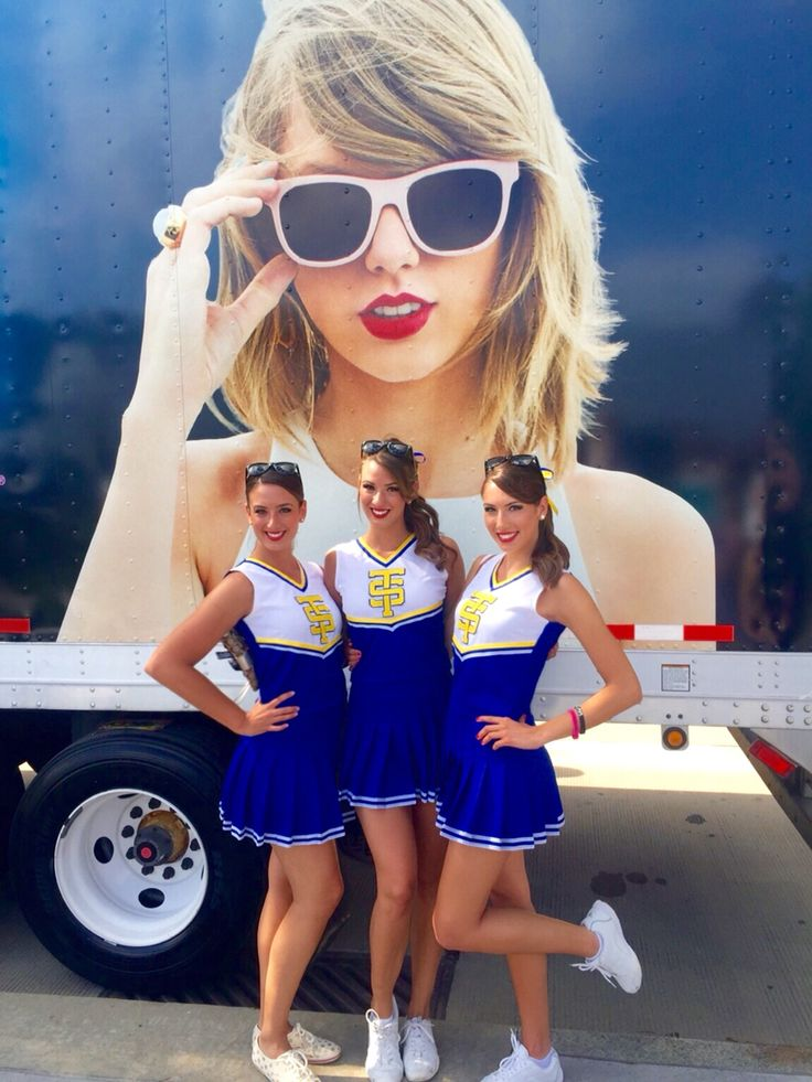 DIY Taylor Swift cheerleading uniforms from the Shake if Off music video