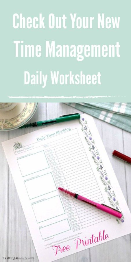 Try this beautiful Daily Time Management Time Blocking to help our day. Some days are just so filled with activity and appointment, I grab a daily Time Management Worksheet. Planning out a hectic day helps to not only keep me on task and motivated but take all of the anxiety out of the day.Beautiful free printable help with home organization, time management, and reduces stress. #freeprintable #timeblocking #productivity #organization #timemangement #howtotimeblock #blogging #getmoredone…
