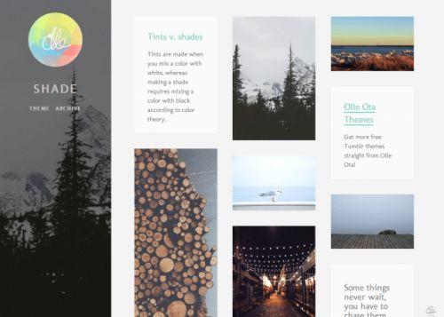 More than 50 beautiful designer Tumblr themes, free for your blog(via Olle Ota Themes | Free Tumblr Themes)