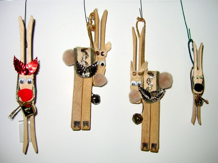 Clothespin Crafts Christmas Part - 43: Reindeer Clothespin Ornaments By WDWParksGal