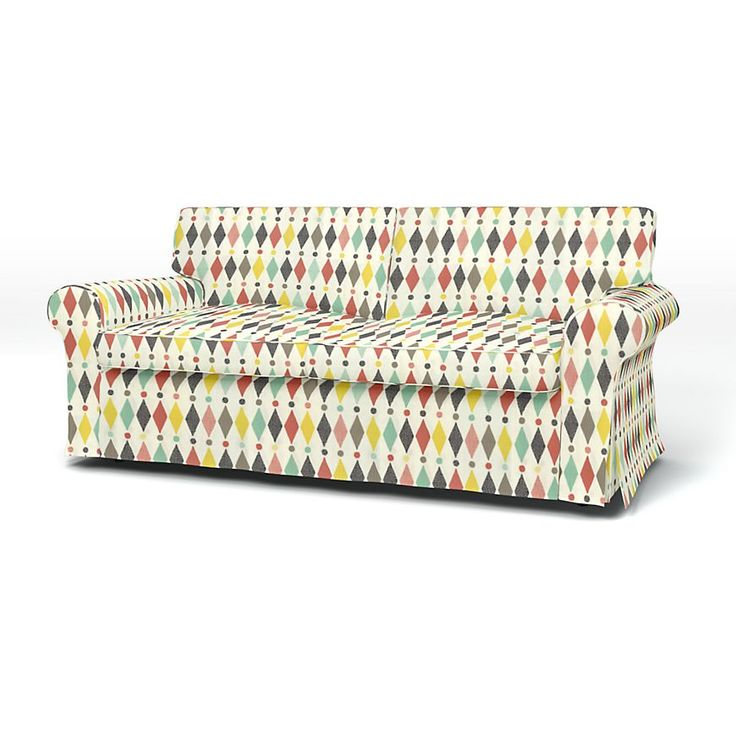 Ektorp, Sofa Covers, 2 seater sofa bed, Regular Fit using the fabric Panama Cotton Absolute White