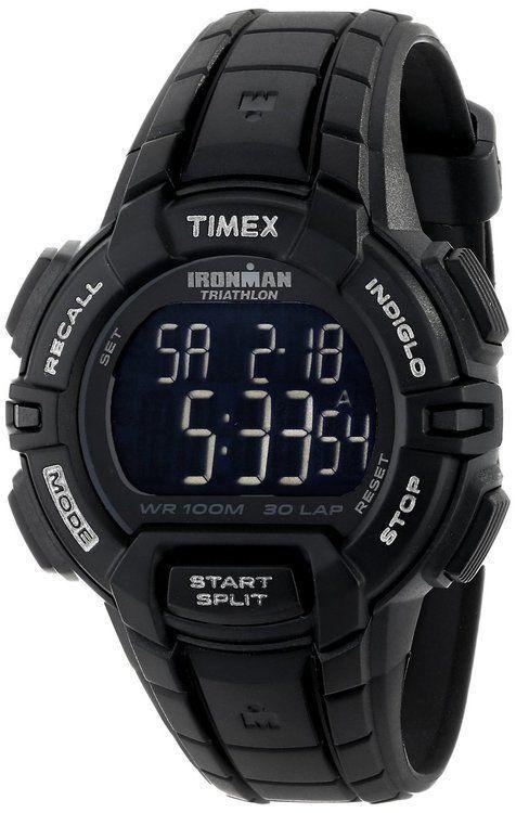 e13366816 Timex Men's Ironman 30 Lap Rugged Sport Watch T5K793 Black in 2019 ...