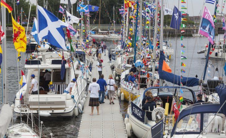Commonwealth Games Flotilla on the Clyde