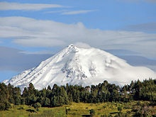 Snowed Pico de Orizaba, the highest point in Mexico. . . It was an awesome sight to see first thing in the morning from my hotel bedroom window in Orizaba. <3