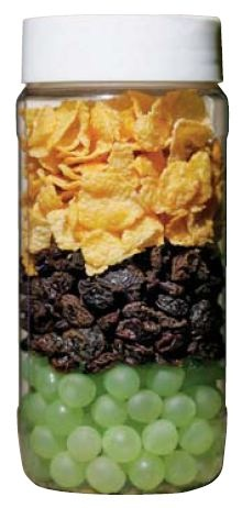 Use this picture of cornflakes, raisins and grapes to understand your skin. Together, these three layers make up the epidermis.     The cornflakes represent the outer layer of skin, which is the most visible layer. The raisins represent the middle epidermis layer of skin, where you can really make a difference in the aging process. And the grapes represent the deepest layer of the epidermis: the soft, supple cells you will see in the future.