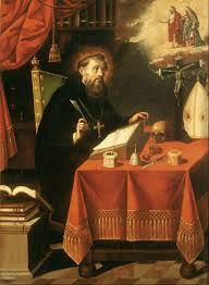 This piece of art is about the religions of St.Augustine and the influential in the development of Western Christianity and Western philosophy.