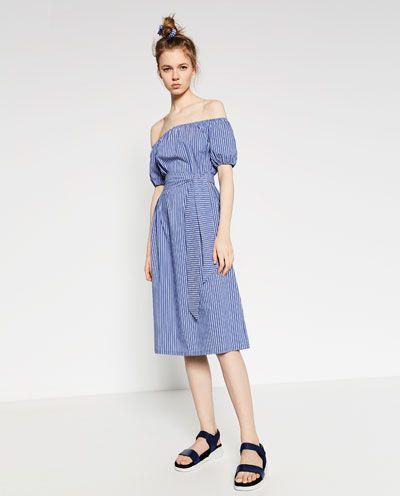 ミディストライプ, 組織, 結婚式, 美しい作品, ストライプの腕時計, ドレス, Zara Neuware, Damen Zara, LanaS Style