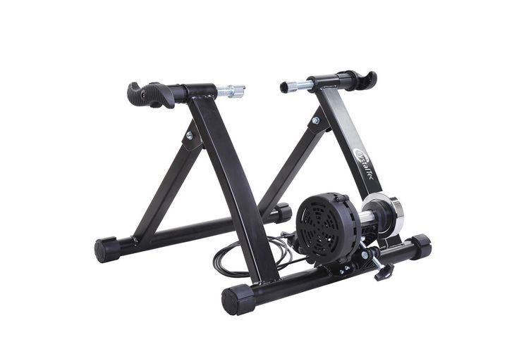 Indoor Magnetic Variable Resistance Turbo Bike Trainer Exercise Cycle - Black