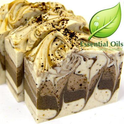 Love this look for a coffee soap!
