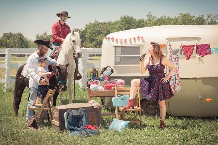 #vintage #rockabilly #camping #horses #cowboy #pinup #cola