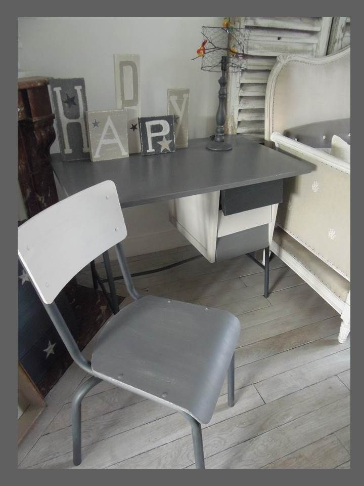 meubles deco campagne vintage industrielle une bureau vintage et sa. Black Bedroom Furniture Sets. Home Design Ideas