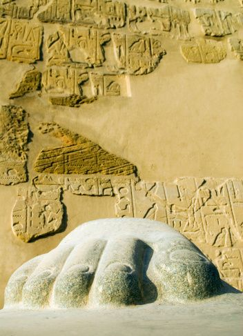 Statue foot, Temple of Luxor, Egypt