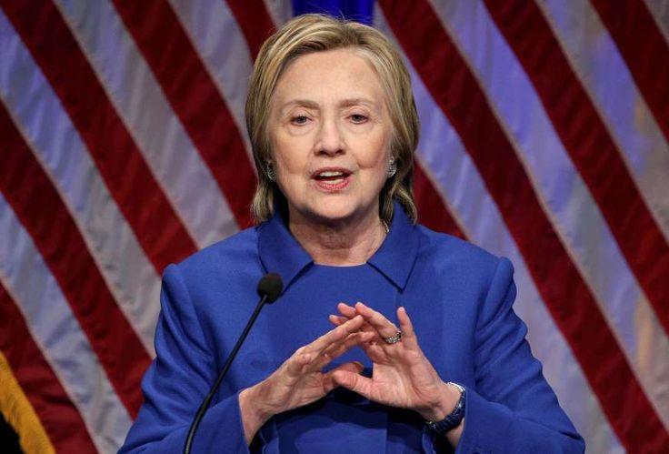 Hillary Clinton speaks to the Children's Defense Fund in Washington.