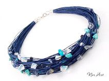 Halskette Leine - Opal, Türkis, Sodalith
