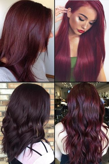Hair Color Ideas For Short Hair Pinterest : 9 Hottest Burgundy Hair Color Ideas For 2017 Short Hair Pinterest Coloration et Cheveux