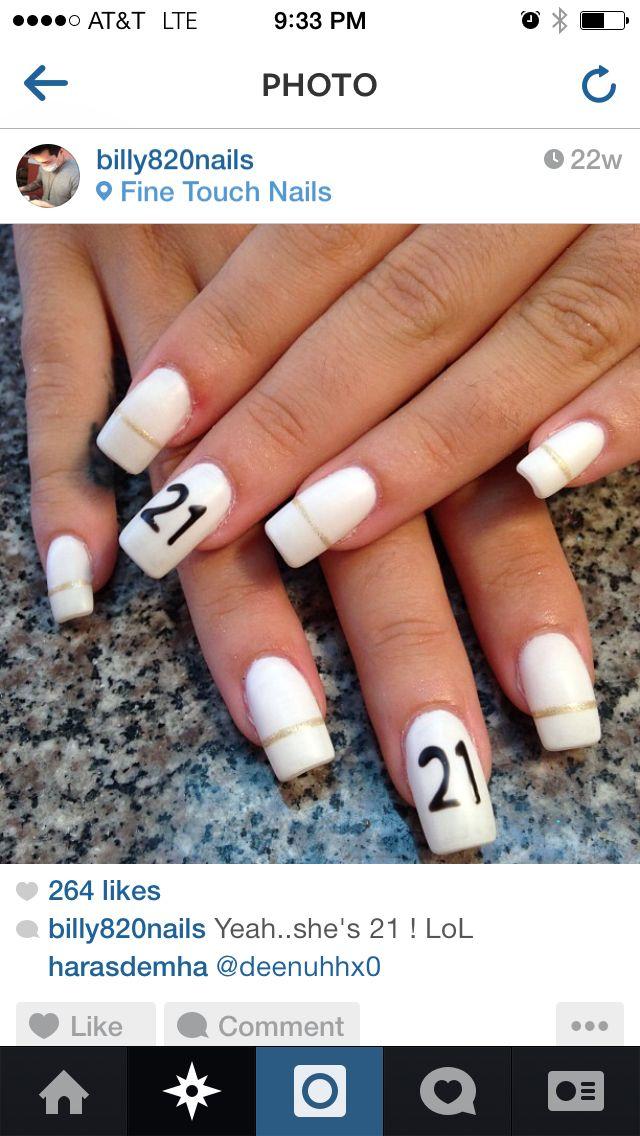 Best 25 21st birthday nails ideas on pinterest glitter nails 21st birthday nails urmus Images