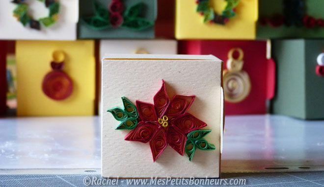 boite décorée quilling noel