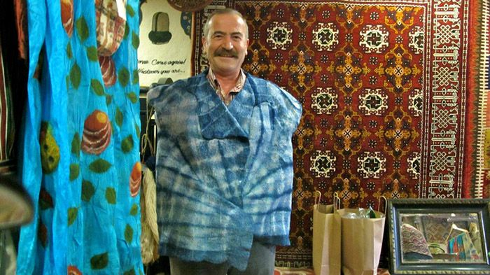 Istanbul Life Organisation Cultural Tours/Workshops Felt is a non-woven cloth that is produced by matting, condensing and pressing woollen fibres. While some types of felt are very soft, some are tough enough to form construction materials. Felt can be of any colour, and made into any shape or size.