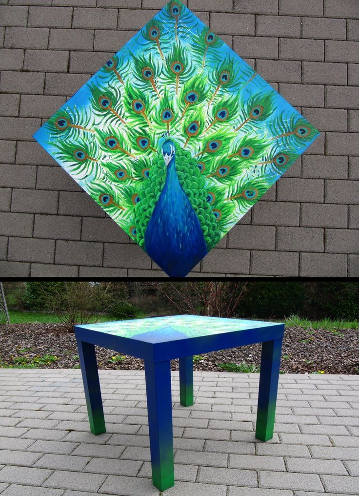 Peacock Table by badash13.deviantart.com on @DeviantArt
