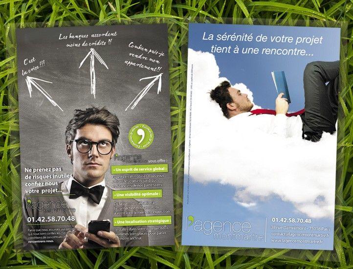 Graphisme agence immobiliere paris affiches pinterest for Agence immobiliere paris