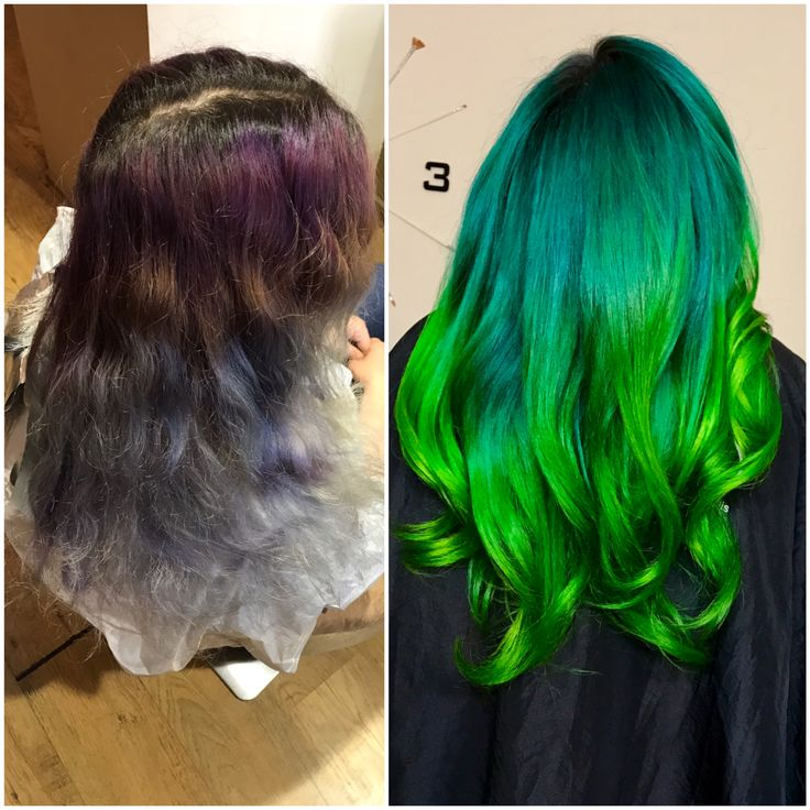 #greenery #hair #color #greenhair #haircolor #jbeverlyhills #1concept #yourbeautymasters