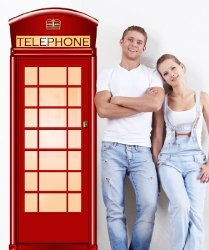 Vinyl Wall Decal Sticker Telephone Booth JH120