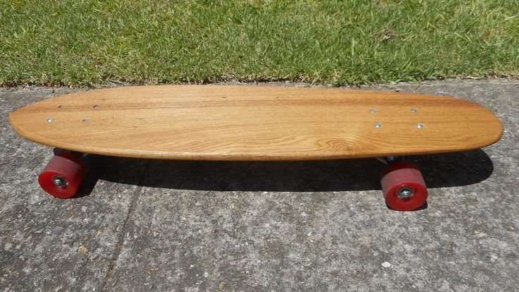 New old skateboard deck. Made from an old oak wardrobe draw