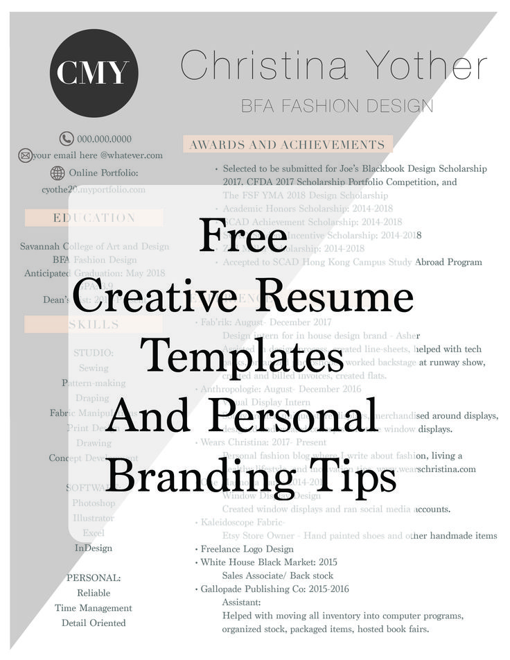 The 25+ best Creative resume templates ideas on Pinterest - personal resume templates