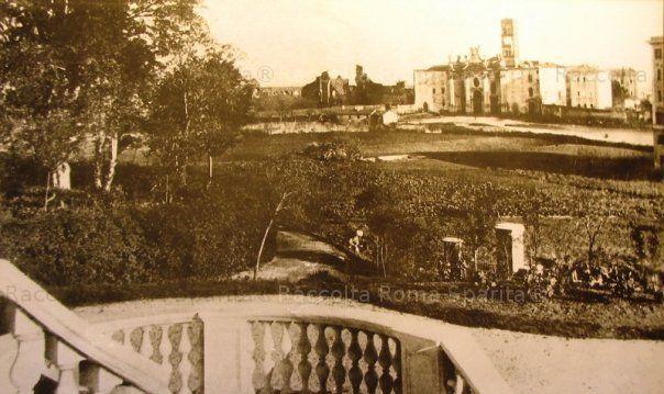 Basilica di Santa Croce in Gerusalemme vista da Villa Wolkonsky Anno: 1860
