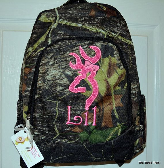 Girls Backpack Back to School Woods Camo by TheTurtleTrain, $45.00