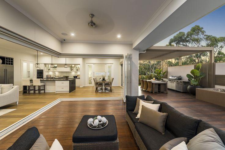 Love this indoor outdoor space