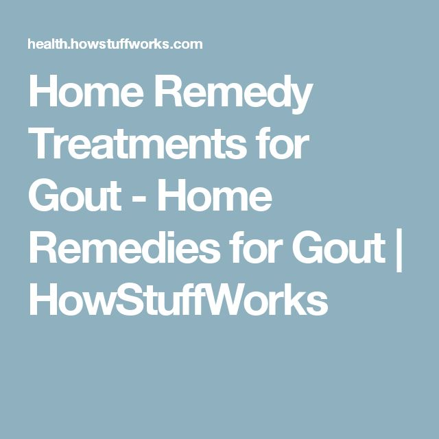 Home Remedy Treatments for Gout - Home Remedies for Gout | HowStuffWorks