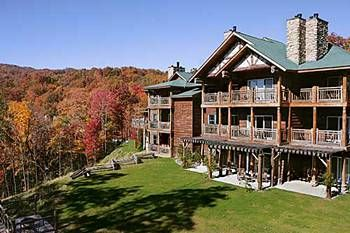 The Lodge at Buckberry Creek - luxury meets log cabin with room service. Close to downtown Gatlinburg, yet deep in the Smoky Mountains.