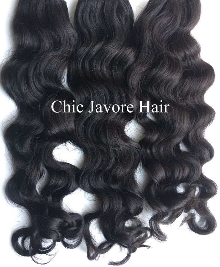 """Authentic Virgin Indian Wavy Hair Extension From Chic Javore Hair.  Buy One 10"""" Get One Free!"""
