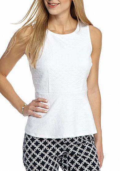 Crown & Ivy™ Petite Size Jacquard Knit Top