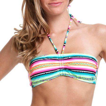 OP Juniors Swim Aztec Bandeau Bikini Top, Women's, Size: Large, Multicolor