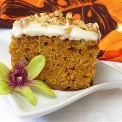 Pastel de calabaza con canela @ http://allrecipes.com.mx