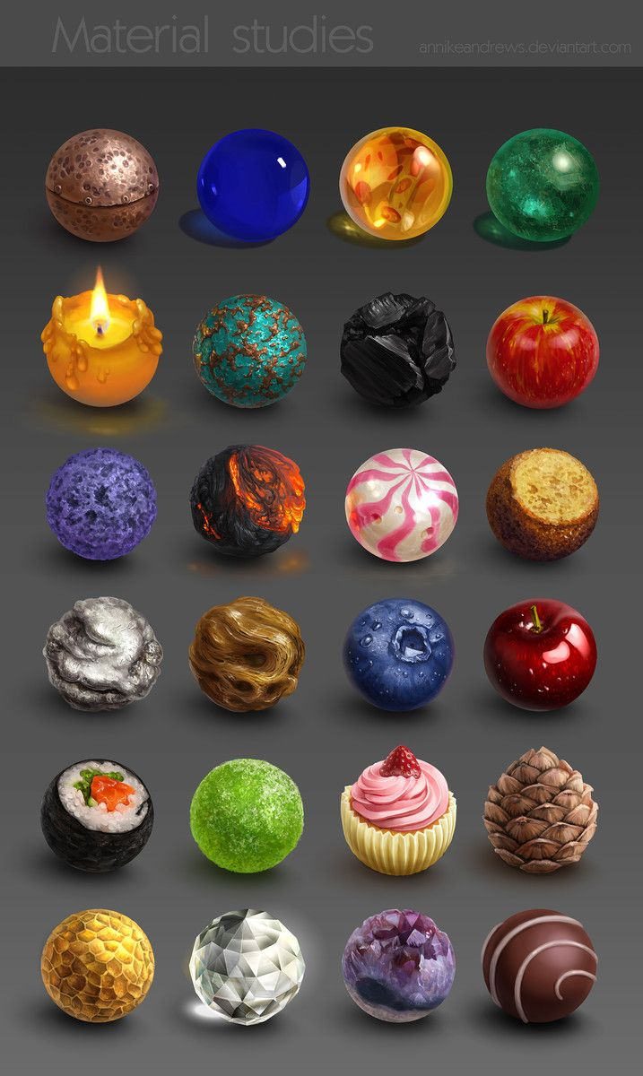Textures materials study sphere tutorial pinterest for Waste material object