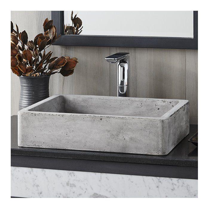 Nipomo Stone Rectangular Undermount Bathroom Sink