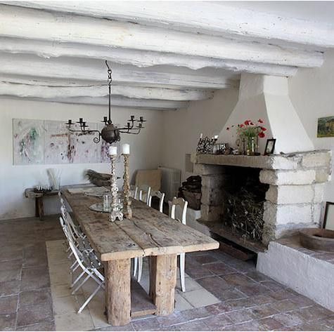 Rustic white kitchen / 22 White Kitchens that ROCK…   Picklee