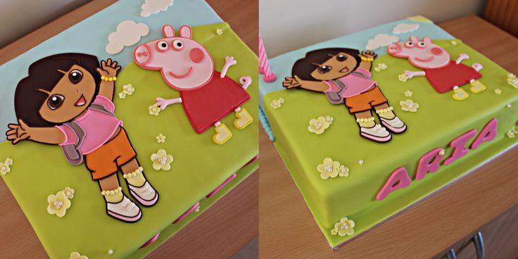 Dora The Explorer X Peppa Pig Cake Insta Cake Ari