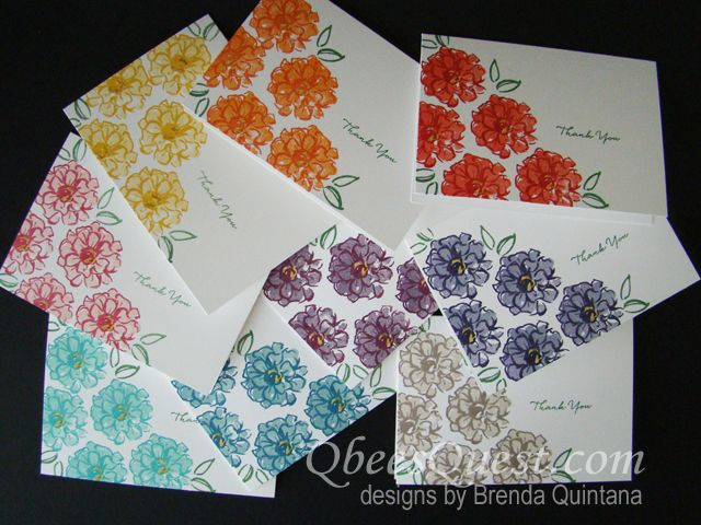 What I Love Note Cards  | Video Tutorial, What I Love Stamp Set, Sale-a-bration 2016, Note Cards, Gold Wink of Stella, Stampin' Up, Qbee's Quest, Brenda Quintana