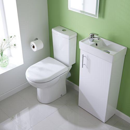 Best Photo Gallery For Website Milano White Minimalist Floor Standing Cloakroom Suite