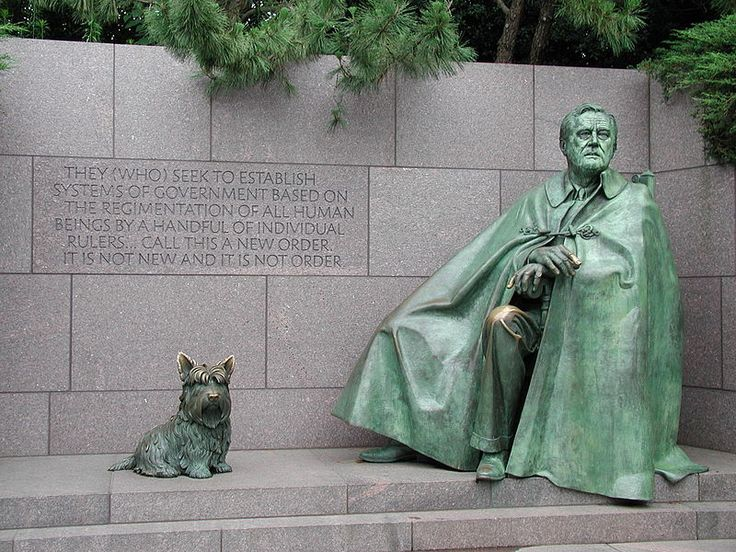 A President's Best Friend An editorial from Scripps-Howard News Service Beside a statue of President Franklin Roosevelt at his newly dedicated memorial In Washington is a bronze image of FDR's Scottish terrier Fala. This is fitting. Man and dog were...