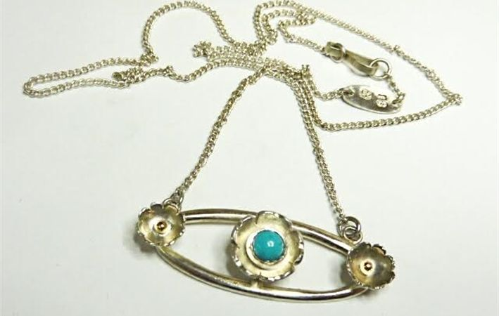 Makers Lane :: Sterling Silver Flower Pendant Custom Made, Bespoke jewellery made in Australia.