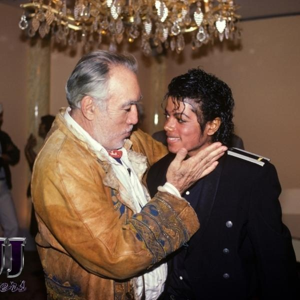 MJ with Anthony Quinn. Love it!!