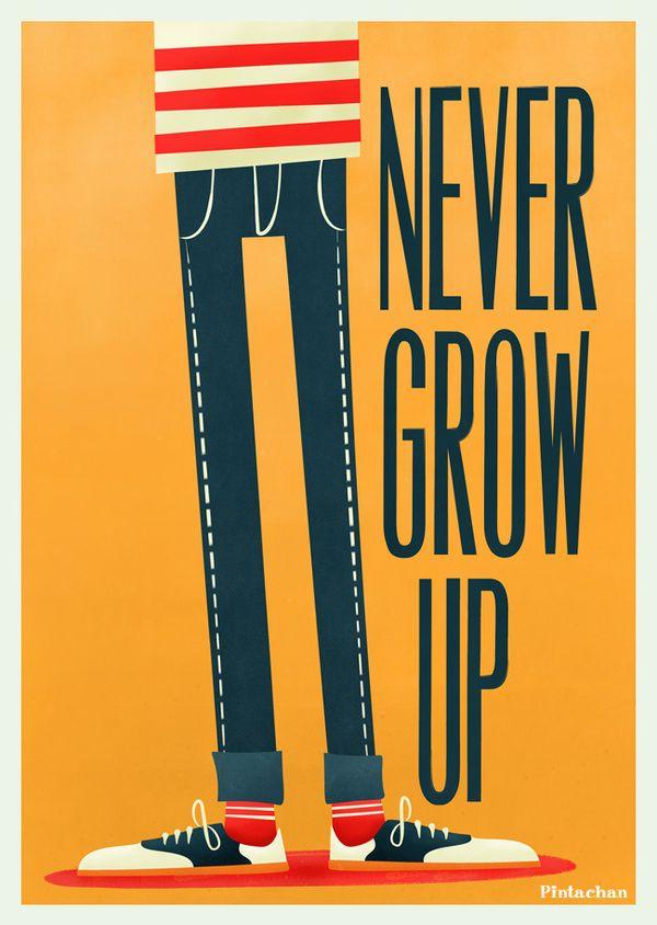 Never Grow Up! by naranjaschinas #4, pintanchan #Illustration #naranjaschinas_#4 #pintachan