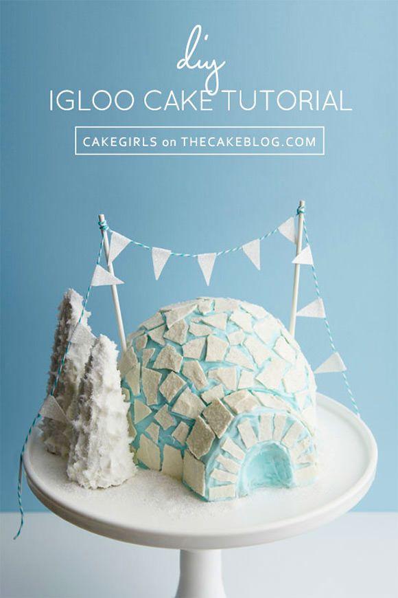 Amazing DIY Igloo Cake Tutorial via The Cake Blog