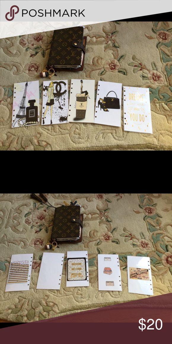 Louis Vuitton MM Agenda dashboards/ dividers NWOT Louis Vuitton set of 5 dashboards or dividers for MM agenda. Gorgeous Accessories